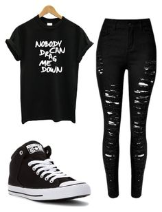 """Nobody can drag me down"" by timetells on Polyvore featuring Converse, women's clothing, women, female, woman, misses and juniors"