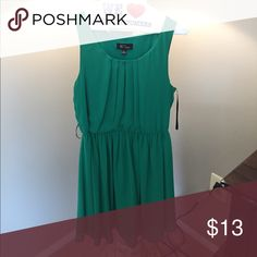 Green dress Green dress - pleated top - gathered at waist - flattering on all body shapes BCX Dresses