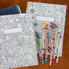 FREE Printable binder covers to color for back-to-school - they're gorgeous!