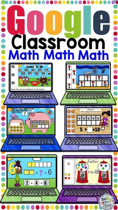 Interactive math games that can be used on the SMARTboard Google Classroom, Kindergarten Classroom, Classroom Activities, Teaching Math, Kindergarten Activities, Classroom Ideas, Learning Activities, 2 Kind, Blended Learning