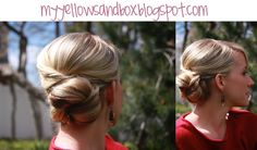 My Yellow Sandbox: Day 6- the wedding bun. Easy up do!