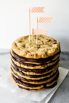 Salted Chocolate Chunk Cookie Layer Cake ... a birthday cake for the hubby or a sweet treat for any party