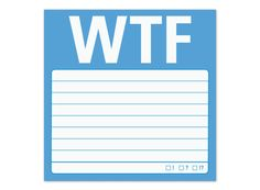 WTF Sticky - A Straight to the Point Sticky Note by Knock Knock #KnockKnockStuff