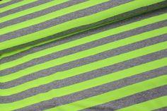 Jersey - Neon - breite Streifen - Neon-Gelb /Grau
