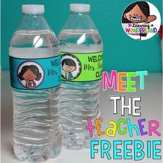This download includes two editable labels that you can use for Meet the Teacher Night or Open House. You can edit the labels to include your name :-) If you like this freebie, you may like my full set that you can find here:Water Bottle LabelsPlease note that you will need PowerPoint in order to edit this file.