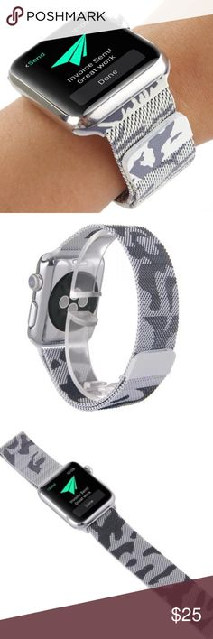 38mm Camouflage Magnetic Apple Watch Band Brand New 38mm Stainless Steel Milanese Apple Watch Band with Magnetic Closure  (Watch is not included) Great Gift for your friends and Love ones !!! Accessories Watches