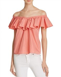7d2e22638b085 Rebecca Taylor Off-the-Shoulder Ruffle Top Women - Tops - Bloomingdale s