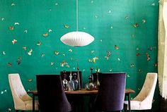 Como base de un mural de mariposas en decoupage...Foto: Home and decor