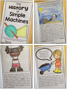 A Giveaway! The History of Simple Machines: A Student Reader with Comprehension Questions (Creating Readers and Writers: Super Science: Simple Machines! Science Classroom, Teaching Science, Science Activities, Science Projects, Science Experiments, Teaching Ideas, Steam Activities, Stem Projects, Science Fun