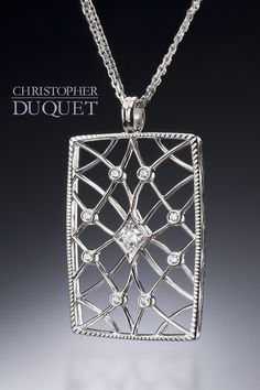 I believe the right question to ask, respecting all ornament, is simply this; was it done with enjoyment?  - John Ruskin     / Created by Christopher Duquet Fine Jewelry Design; Chicago; Materials: White Gold, Diamonds