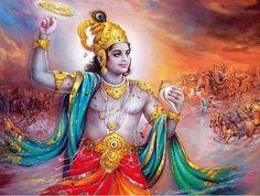 HD wallpapers of Biswaroop of Lord Krishna Or Lord Vishnu