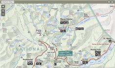 Campsite Map for Glacier National Park