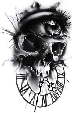 Tattoos For Kids, Fake Tattoos, Tattoos For Women, Temp Tattoo, Temporary Tattoo, Faith Rose, Evil Skull Tattoo, Skeleton King, Costume Birthday Parties