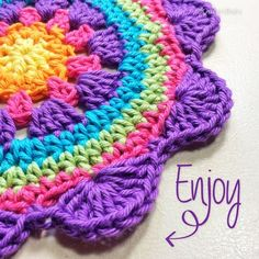 Patterns Circle The Extended Courage Flower - Yarnbombers United free crochet flower pattern in English, Czech, Spanish and Turkish Crochet Mandala Pattern, Crochet Circles, Crochet Flower Patterns, Doily Patterns, Crochet Squares, Crochet Granny, Crochet Stitches, Knitting Patterns, Crochet Afghans