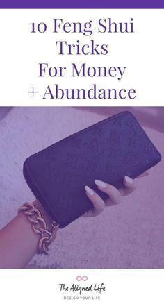 10 Feng Shui Tricks for Money & Abundance - secret - einrichtungstipps Feng Shui Dicas, Consejos Feng Shui, Feng Shui Rules, Feng Shui Symbols, Feng Shui Bathroom, Bedroom Fung Shui, Feng Shui History, Fen Shui, Feng Shui Design