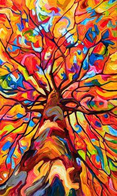 Landscape Archives - Page 12 of 18 - Julia Veenstra Abstract Landscape, Landscape Paintings, Abstract Art, Painting Inspiration, Art Inspo, Mandala, Arte Pop, Art Plastique, Tree Art