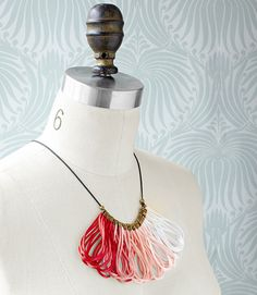 You can fashion a brilliant ombre neckless for next to nothing! Change the colors for customizable holiday gifts.