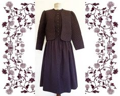 Vintage Dirndl Dress and quilted Jacket by mamutza on Etsy