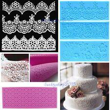 Lace up Silicone Mold Mat Fondant Chocolate Cake Decorating tools Bakeware Craft