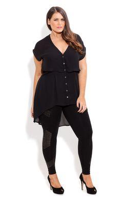City Chic - ARMOUR LEGGING - Women's plus size fashion