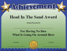 33 best work awards images on pinterest award certificates funny