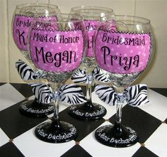 These are too cute... would be perfect bridesmaids gifts or something fun for your Bachelorette night :)