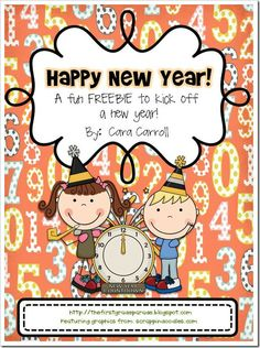 Very cute free New Year's Clock Work - - Pinned by @PediaStaff – Please visit http://ht.ly/63sNt for all (hundreds of) our pediatric therapy pins
