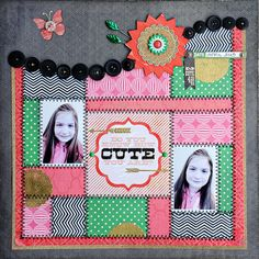 Wavy border, line it with buttons, punched shapes or some other collection of small embellishments