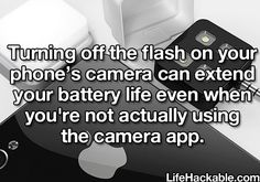 Save that battery life hack