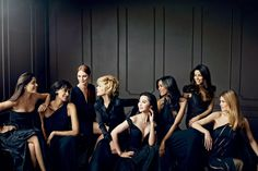 Actresses Freida Pinto, Julianne Moore, Jane Fonda, Fan Bingbing and Eva Longoria pose with models Liya Kebede, Inès de La Fressange and Doutzen Kroes for Group Picture Poses, Poses Photo, Group Poses, Group Shots, Group Pictures, Picture Ideas, Photo Ideas, Picture Outfits, Photo Shoot