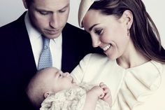 """The official pictures of the christening of His Royal Highness Prince George Alexander Louis of Cambridge were released Saturday night — and show proud parents, Prince William and Kate Middleton, gazing lovingly at their son. Kate said the ceremony """"went very well,"""" adding, """"It was a very emotional and a lovely day.''"""