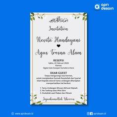 Jasa Desain E-Invitation Wedding Image Custom E Invitation Wedding, E Invite, Wedding Images, Digital