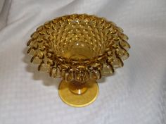 Fenton Amber Hobnail Compote/Candy Dish by VelsVintage on Etsy, $11.00