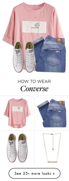 """This set is really bad but Idc✌"" by awillis296 on Polyvore featuring Nobody Denim, BCBGeneration and Converse"