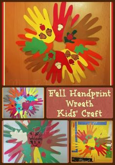 Mama Pea Pod: {Fall Handprint Wreaths} Simple autumn kids craft for all ages!