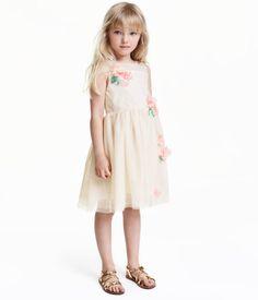 Tüllkleid | Naturweiß/Glitzer | Kinder | H&M DE