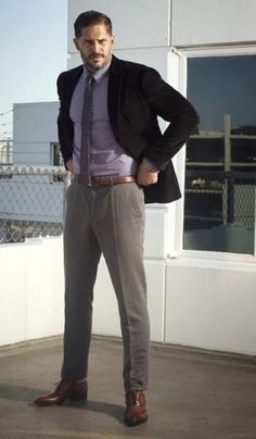 Joe Manganiello // Jacket, shirt and trousers by John Varvatos // Christian Louboutin shoes