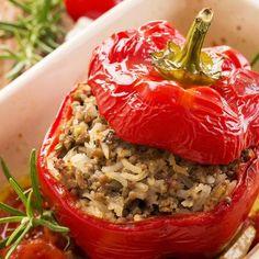 Gefüllte Paprika mit Hackfleisch | BRIGITTE.de