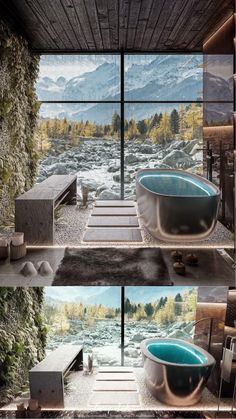 Mountain Home Exterior, Bathroom Design Luxury, Model Homes, Luxurious Bedrooms, Land Scape, Interior Design Living Room, Amazing Photography, Interior Architecture, Trees