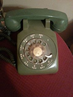 My green rotary phone.