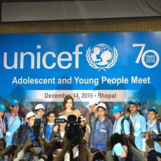 Every child bringing about social change is a leader! Met young change makers #UnicefAt70 #Bhopal @UNICEFIndia
