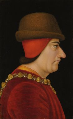French School, circa 1470. Profile portrait of Louis XI, King of France (1423-1483)