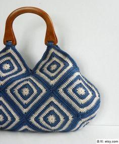 [손뜨개 가방] 코바늘 모티브 가방 예쁜 코바늘 모티브 가방......구경해요. 사각모티브 배색이 환상 ........