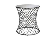 """""""Cuff"""" side table by Currey & Co."""