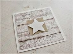 Carolas Bastelstübchen Christmas Cards To Make, Christmas Star, Handmade Christmas, Christmas Crafts, Paper Cards, Diy Cards, Deco Table Noel, Karten Diy, Masculine Birthday Cards