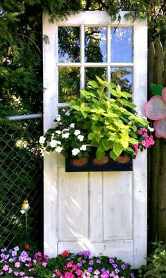 Recycled door planter .... i LOVE this & want one.. ~mbr~