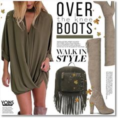 Fall Footwear: Over-The-Knee Boots by svijetlana on Polyvore featuring Boots, yoins, yoinscollection and loveyoins