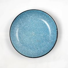 Primitive Blue Graniteware Wash Basin | Speckled Enamel Bowl
