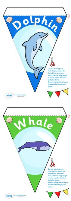 This Under the Sea bunting would be nice for a reading corner or classroom display board!