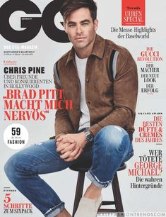 Jordan Barrett Channels George Michael for British GQ Style- Jordan Barrett Channels George Michael for British GQ Style Chris Pine covers the June 2017 issue of GQ Germany. George Michael, Gq Magazine Covers, Fashion Magazine Cover, Cover Male, Cover Boy, Gq Mens Style, Gq Style, Abercrombie Men, Red Wing Boots